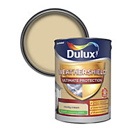 Dulux Weathershield ultimate protection County cream Smooth Matt Masonry paint 5L