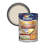 Dulux Weathershield ultimate protection Sandstone Smooth Matt Masonry paint 5L