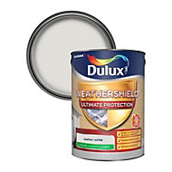 Dulux Weathershield ultimate protection Ashen white Smooth Matt Masonry paint 5L