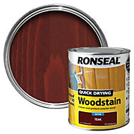 Ronseal Teak Satin Wood stain, 0.75L