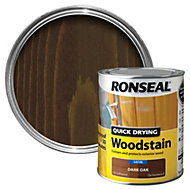 Ronseal Dark oak Satin Woodstain 0.75L