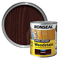 Ronseal Walnut Satin Wood stain, 0.75L