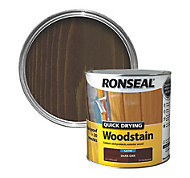 Ronseal Dark oak Satin Woodstain 2.5L