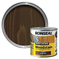 Ronseal Dark oak Satin Wood stain, 0.25L