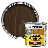 Ronseal Dark oak Gloss Woodstain 0.25L