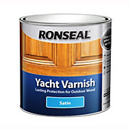 Ronseal Clear Satin Yacht varnish 1L