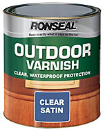 Ronseal Clear Satin Outdoor varnish 0.25L
