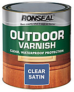 Ronseal Clear Satin Wood varnish, 0.25L