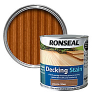 Ronseal Golden cedar Matt Decking Wood stain, 2.5L