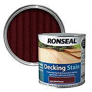 Ronseal Rich mahogany Matt Decking Wood stain, 2.5L