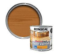 Ronseal Diamond hard Antique pine Satin Floor Wood varnish, 2.5L