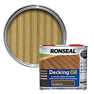 Ronseal Natural oak Matt Decking Wood oil, 2.5L