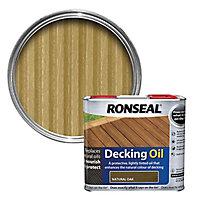 Ronseal Natural oak Matt Decking Wood oil, 2.5L