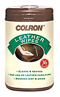 Colron Unscented Leather wipes, Pack of 36