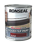 Ronseal Tile red Satin Doorstep paint, 0.75L