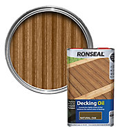 Ronseal Natural oak Decking Wood oil, 5L