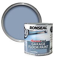 Ronseal Diamond Steel blue Satin Garage floor paint 2.5L