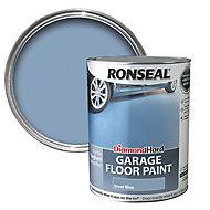Ronseal Diamond hard Steel blue Satin Garage floor paint, 5L