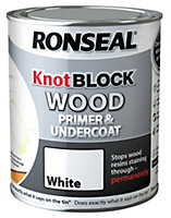 Ronseal Knot Block White Wood Primer & undercoat 0.75L