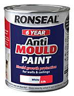 Ronseal Problem wall paints White Silk Anti-mould paint 750 ml