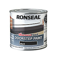 Ronseal Black Satin Doorstep paint, 0.25L