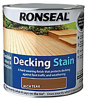 Ronseal Rich teak Matt Decking Wood stain, 5L