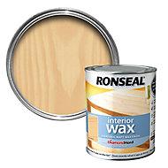 Ronseal Diamond hard Almond Matt Wood wax, 0.75L