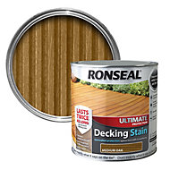 Ronseal Ultimate Medium oak Matt Decking stain 2.5L