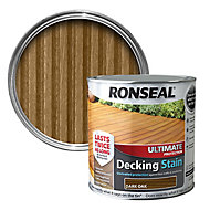 Ronseal Ultimate Dark oak Matt Decking Wood stain, 2.5L