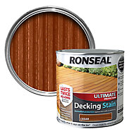 Ronseal Ultimate Cedar Matt Decking Wood stain, 2.5L