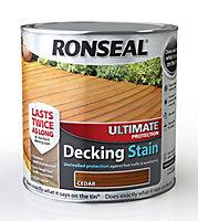 Ronseal Ultimate Cedar Matt Decking Wood stain, 2.5L