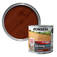 Ronseal Ultimate Mahogany Matt Decking Wood stain, 2.5L