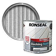 Ronseal Ultimate White wash Matt Decking Wood stain, 2.5L