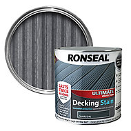 Ronseal Ultimate Charcoal Matt Decking Wood stain, 2.5L