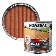 Ronseal Ultimate Mahogany Matt Decking Wood stain, 5