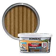 Ronseal Perfect finish Dark oak Decking Wood stain, 2.5L