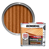 Ronseal Ultimate Natural cedar Decking Wood oil, 2.5L