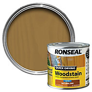 Ronseal Natural oak Satin Wood stain, 0.25L