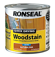 Ronseal Natural oak Satin Wood stain, 0.25L