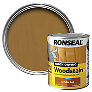 Ronseal Natural oak Satin Wood stain, 0.75L