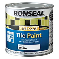 Ronseal Tile paints Brilliant white High gloss Tile paint 0.25L