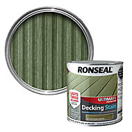 Ronseal Ultimate Mountain green Matt Decking Wood stain, 2.5L