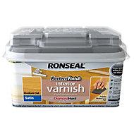 Ronseal Perfect finish Medium oak Satin Wood varnish, 0.75L