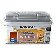 Ronseal Perfect finish Walnut Satin Wood varnish, 0.75L