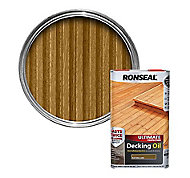 Ronseal Ultimate Natural oak Decking Wood oil, 5L