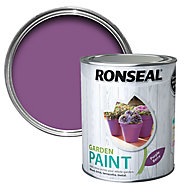 Ronseal Garden Purple berry Matt Metal & wood paint, 0.75L