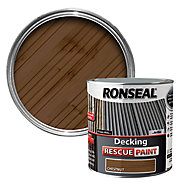 Ronseal Rescue Matt chestnut Decking paint, 2.5L