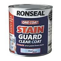 Ronseal One coat Clear Matt Stain guard clear coat 0.75L