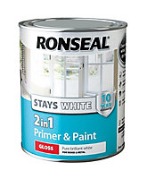 Ronseal White Gloss Primer & paint 0.75L