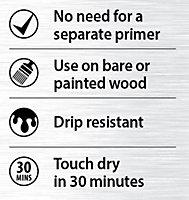 Ronseal White Satin Primer & paint 2.5L